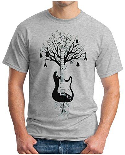 OM3 - Camiseta - Redondo - Manga Corta - Hombre Gris Gris XXXXX-Large