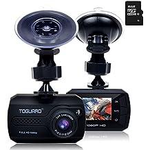 TOGUARD Mini Telecamera per Auto, Auto Dash Cam Full HD 1080P Auto Blackbox Cruscotto DVR Video, G-Sensor, Registrazione in loop, 16Go carta MicroSD inclusi - Auto Box