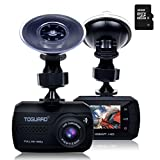 TOGUARD Mini Telecamera per Auto Dash Cam Blackbox Full HD 1080P, DASHCAM Grandangolo, Capteur-G, Registrazione Continua - Una Scheda Micro SD 16 GB Inclusi