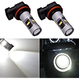 katur 2pcs 1800lm muy brillante 9005/HB3Niebla drving luz DRL luces antiniebla, 360Degree LED coche luz de conducción encaje para luz diurna o luces antiniebla de repuesto blanco