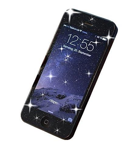 Glitzer Schutzfolie für Samsung Galaxy S4 Mini   Der Glamour-Look für's Smartphone mit elegantem Diamantkristall-Funkel-Effekt für einzigartigen Style und