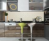 wandmotiv24 Küchenrückwand Barockmuster Beige Nischenrückwand Spritzschutz Design M0306 210 x 50cm (B x H) - Hartschaum 3mm