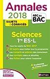 Annales ABC du Bac Sciences 1re ES-L 2018