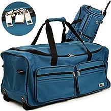 Reisetasche ✔mit Trolleyfunktion ✔Rollen mit Kugellager ✔Teleskopgriff ✔abschließbar -【Farb-und Größenauswahl】 Sporttasche Reisetrolley Gepäcktasche