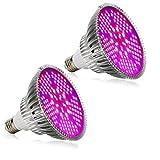Esbaybulbs Pflanzenlampe Grow Light 100W E27 LED Wachstumslampe Full Spectrum für Zimmerpflanzen Gemüse und Blumen (2 Stück)