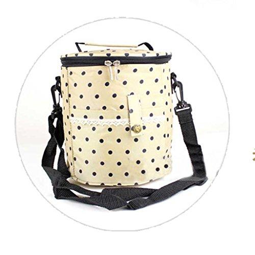 MOXIN Sacchetto di Isolamento - Riutilizzabile in Pranzo Borsa Termica Pranzo Tote Morbida Bento Cooler Bag , 3# 1#