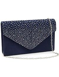 3f00b67154ad Milisente Women Clutch Bag Classic Satin Clutch Purse Glitter Envelope  Evening Bags