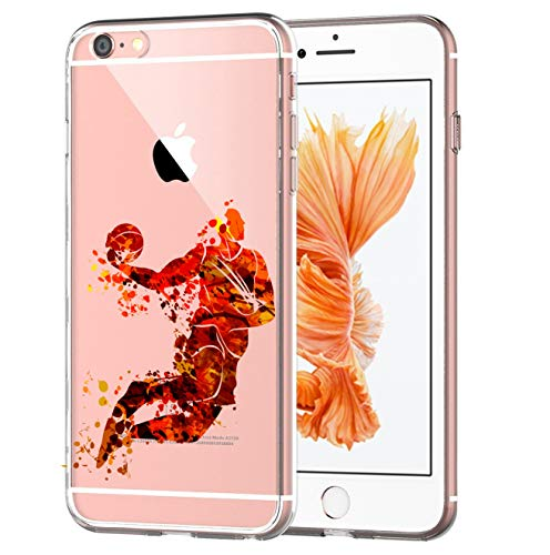blitzversand Handyhülle Sport Art kompatibel für iPhone 5 C Jump Basketball Schutz Hülle Case Bumper transparent M13 (Phone 5 C Basketball I)