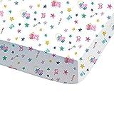 CTI 044728Peppa Pig Recreation sábana bajera para niños algodón, 190x 90cm), color blanco