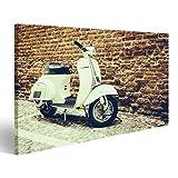 islandburner Bild Bilder auf Leinwand Alte Vespa parkte auf Alter Straße in Verona, Italien Wandbild, Poster, Leinwandbild NZH