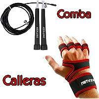Set Comba de Velocidad + Calleras Crossfit para Entrenamiento Funcional y Deportes de Fuerza con Barra