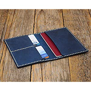 Blaue Reisepasshülle, Kartenhülle Geldbörse Portemonnaie, langlebige Aufbewahrung von ID, Kreditkarten und Banknoten…
