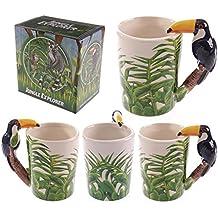 Jungle de cerámica Taza Tucán, mango, la un regalo ideal para cumpleaños, Navidad o día del padre regalo etc...