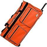 Grand sac de voyage Orange - Avec 3 roulettes - Bagage XXL - Sac de sport - 85x43x44 cm...