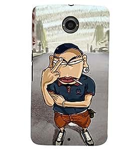 printtech Angry Boy Back Case Cover for Motorola Google Nexus 6
