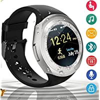 smart watch Bluetooth SmartWatch, Waterproof Smart Wrist Watch Telefono con Touchscreen Camera Whatsapp SIM Card , Sport Impermeabile Wear Orologi Intelligente Pedometri Fitness Activity Tracker Braccialetto Compatibile con iphone ios Android Huawei Sony Apple Samsung Smartphone Uomo Donna Kids Bambini