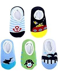 Bebé 6 Pares Calcetines Cortos para Niño,calcetines para Niñas,Calcetín Antideslizante para 8 - 36 Meses Bebés y Niños Pequeños, Calcetín para Niños