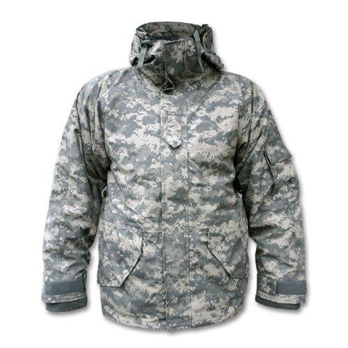 Mil-Tec Armee Wasserdicht ECWCS Kapuzenjacke Smock Parka Fleece Camo, Größe L (Fleece-nylon-parka)