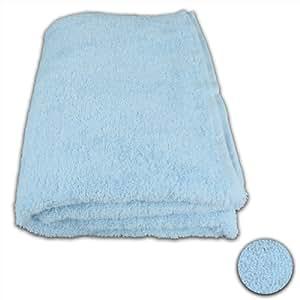 12 Stück Waschhandschuh Set 15x20cm Eisblau