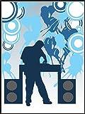 Fliesenaufkleber Fliesentattoos für Bad & Küche - für weiße Fliesen empfohlen - Küchenfliesen für einzelne Fließen 20x25 cm - MD205 - cool DJ
