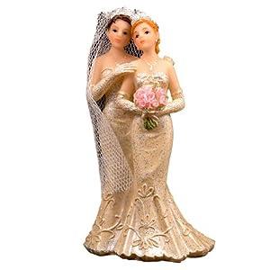 Pares de la boda de la boda pareja de novios mujer/esposa Kuchendeko Tischdeko gay