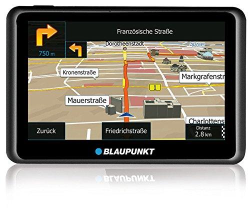 Blaupunkt TravelPilot 55 ACTIVE EU LMU – Navigationssystem mit Aktiv-Halter, kapazitives Echtglas Touch-Farbdisplay 12,7 cm (5 Zoll), Kartenmaterial Gesamteuropa, lebenslange Karten-Updates*, TMC, schwarz
