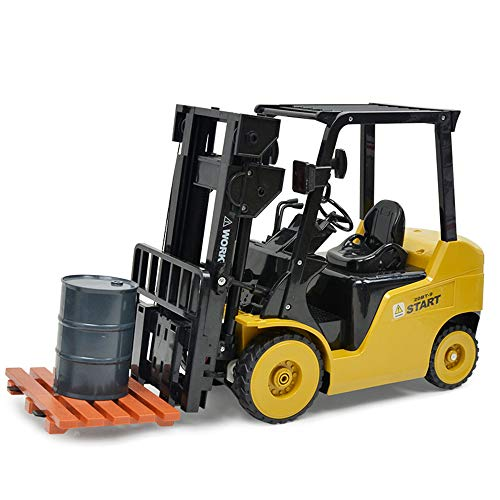 RC Baufahrzeug kaufen Baufahrzeug Bild 1: Wokee 2,4 GHz RC Fernbedienung LKW Gabelstapler 1:14 Spielzeug Kinder,60 x 14,5 x 29 cm,Heavy Metal Modellbau Forklift*
