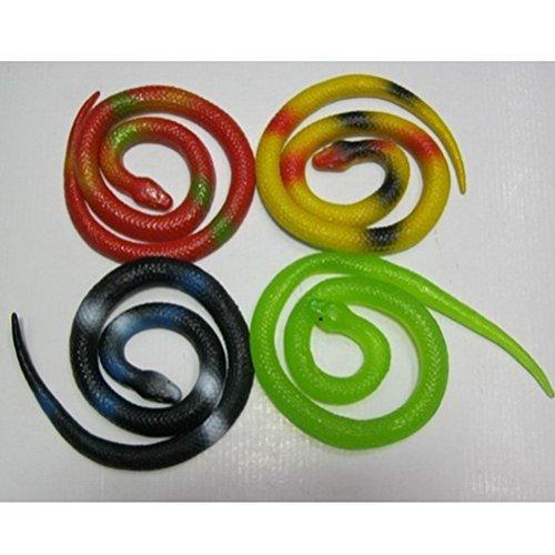 NUOBESTY 5 Stück Gummi gefälschte Schlange Streich Schlange Spielzeug für Kinder Streich Prop Halloween Dekorationen