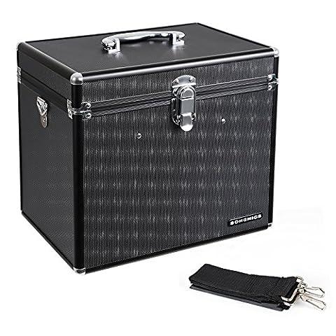 Songmics Coffret cosmétique pour voyage grande capacité couleur noire valise de maquillage Beauty case professionnelle avec miroir boîte de rangement JBC320B