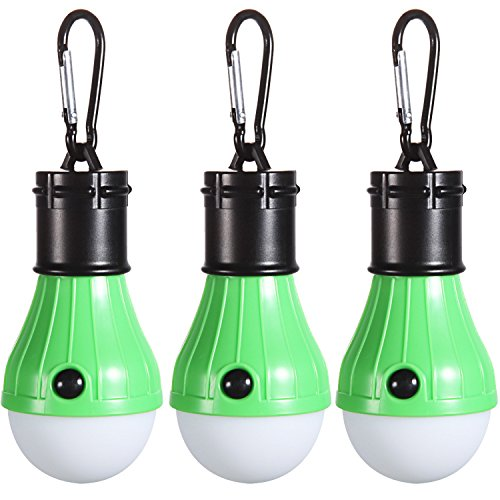Tent LED Light [3Pack], PEMOTech Portable Lantern Emergency Tent LED Light Bulb for Home, Fishing, Camping, Hiking,Backpacking & Other Indoor and Outdoor Activities,Battery Powered & Water Resistant
