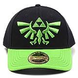 Zelda Baseball Cap Grün Hyrule Crest Logo Nue Offiziell Schwarz Curved Bill