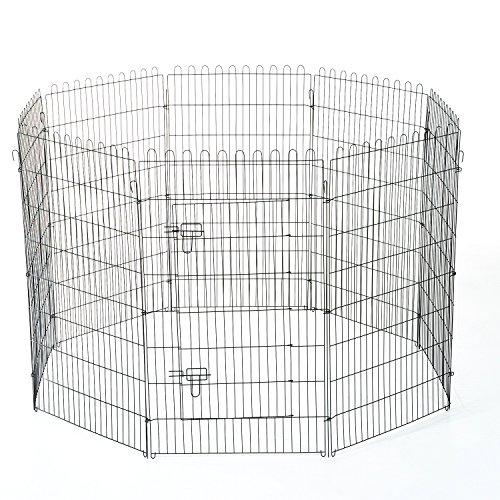 PawHut® Welpenauslauf Welpenzaun Laufstall Laufgitter Hundezaun Freilaufgehege Welpengitter Hunde