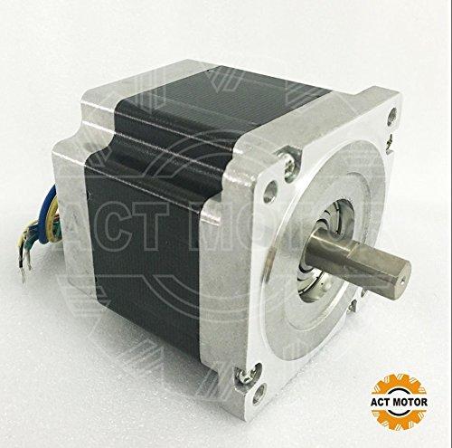 ACT Motor GmbH 1PC BLDC Motor 86BLF03 Nema34 81mm 1.05Nm 330W 3000RPM Double Flat Shaft Ø12.7mm CNC Router Engraver Cut Mill Plasma Automation Robot Grind