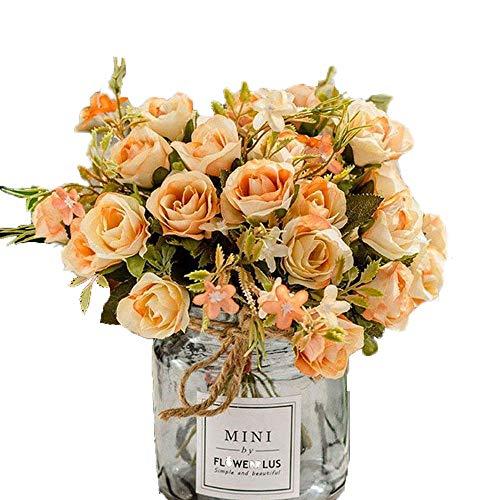 BlueXP Blumen, Rose, Kunststoff, Kunststoff, 3-teilig, Blumen, Rose, Rosa, Rose, Blumen, Unkraut-Design