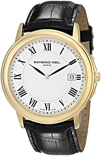 raymond-weil-mens-40mm-black-leather-band-steel-case-quartz-white-dial-analog-watch-54661-pc-00300