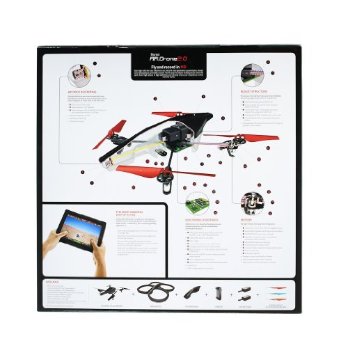 Parrot AR.Drone 2.0 Power Edition Quadrocopter (geeignet für Android-/Apple-Smartphones und -Tablets) rot - 15