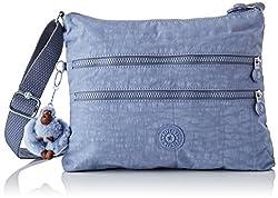 Kipling Damen ALVAR Umhängetasche, Blau (Timid Blue C), 33x26x4.5 cm