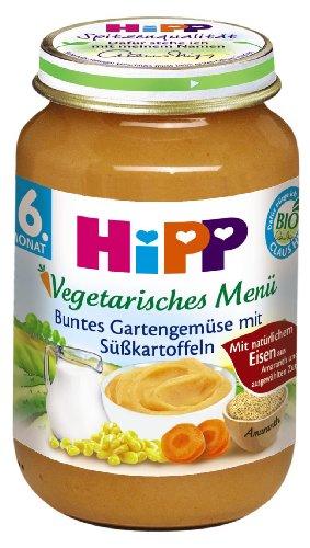 Preisvergleich Produktbild HiPP Buntes Gartengemüse mit Süßkartoffeln,  6er Pack (6 x 190 g)