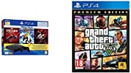 PS4 1TB Slim Bundled with Spider-Man, GTaSport, Ratchet & Clank And PSN 3Month&Grand Theft Auto V - Pr