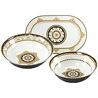 Creatable - Set di piatti da portata Majestosa, 3 pezzi, colore: nero