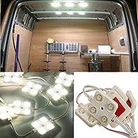 Audew 12V 10 x 4 LED de Toit Panneau Éclairage Voiture Intérieur Ampoule Lecture/Plafonnier Lampe Pour LWB Van Camions