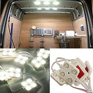 audew 12v 10 x 4 led de toit panneau clairage voiture int rieur ampoule lecture. Black Bedroom Furniture Sets. Home Design Ideas