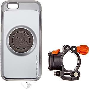 MORPHEUS LABS M4 BikeKit - iPhone 6/6s porta cellulare bici – supporto bici & iPhone 6/6s cover, chiusura magnetica brevettata, super resistente argento [Silver]