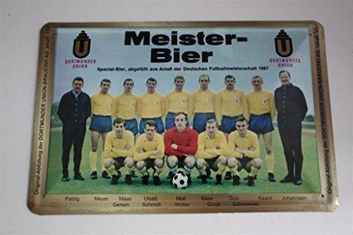 Eintracht Braunschweig Blechschild 20x30 cm Meister Bier - Deutscher Meister 1967 -