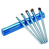 ACEVIVI Make-Up Pinselset Kosmetik zum Auftragen von Augen Makeup - 5 Teiliges Lidschattenpinsel Set - Premium Schminkpinsel Set - Super Geschenkidee (Himmelblau)