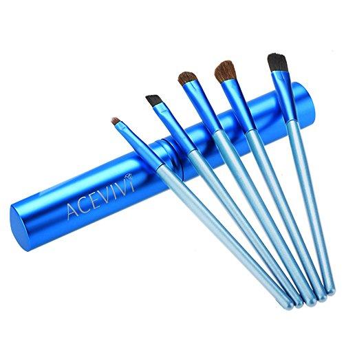 ACEVIVI Make-Up Pinselset Kosmetik zum Auftragen von Augen Makeup - 5 Teiliges Lidschattenpinsel Set...