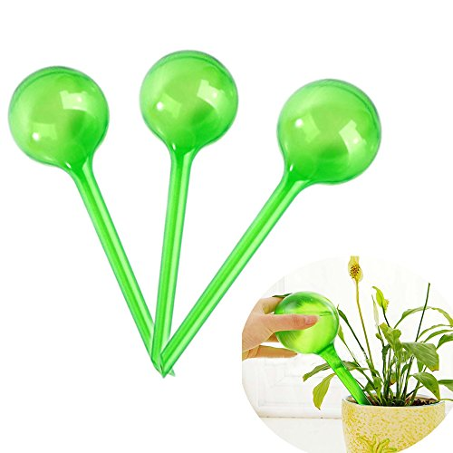 Bewässerungskugel Glas Groß,Fellibay Bewässerung für Pflanzen Globes Pflanzen Wasser Selbst ,10.43*3.14inch (3 Pack) -