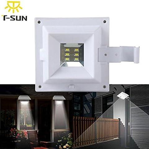 TWIFER Solar Power Motion Sensor Outdoor Garden Security Gutter Spot LED Flood Light