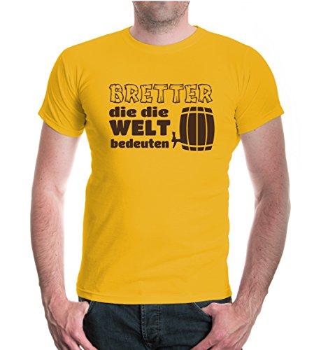 buXsbaum® T-Shirt Bretter die die Welt bedeuten Sunflower-Brown