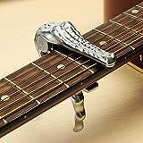 SILENCEBAN Akoestische elektrische gitaar banjo ukulele snelle verandering Zilver krokodil trigger capo